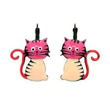 Boucles d'oreilles LOL Bijoux LOLILOTA Le chat assis Cat BFLOL052-rose