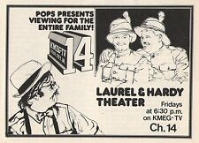 1975 Tv Ad~DAVE WEBBER~Pops Presents Laurel & Hardy Theater KMEG~Sioux City,Iowa