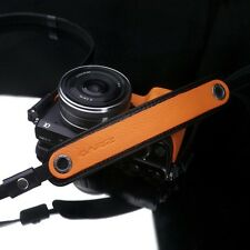 Gariz Orange Leather Neck Strap XS-CHLSNOR Sony NEX Olympus EM5 Lumix Leica
