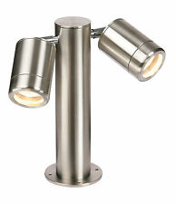 Saxby ST501228 ODYSSEY Twin Brushed Steel spot Adjustable  Post Light outdoor