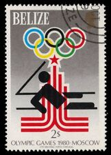 """BELIZE 455 (SG518) - Moscow Olympics """"Yachting"""" (pf88355)"""