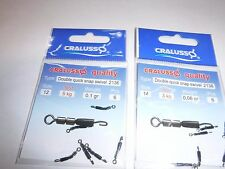 Cralusso double  swivel quicksnap  Quick Snap sizes12/14.set/2  hooklength