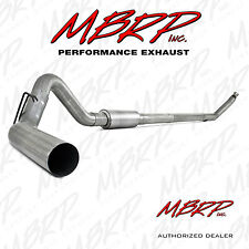"""MBRP S6100P 4"""" TURBO BACK EXHAUST 94-02 DODGE 2500 3500 5.9L DIESEL WITH MUFFLER"""