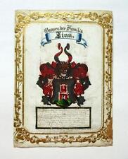 Cappotto delle armi der Famiglia Stagno del pittore Ch. Corto Ulm 1886