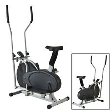 2 IN 1 Exercise Bike Elliptical Fitness Machine Equipment Training Workout Gym