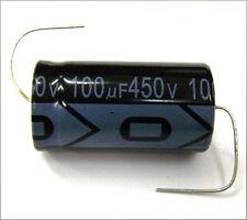 QTY 6 New MIEC 100UF 450V 105C Axial Electrolytic Capacitors.