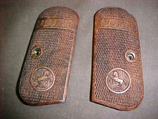 Colt 1903 1908 Hammerless Fine English Walnut Checkered Pistol Grips w/COLT Logo