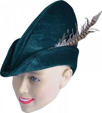 Adultos Robin Hood/Peter Pan Medieval Sombrero de Fieltro Accesorio Disfraz Elaborado Vestido