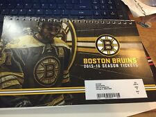 2015-16 BOSTON BRUINS SEASON TICKET BOOK SET STUBS HOCKEY RASK CHARA BERGERON