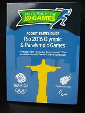 2016 Rio Olympic Games   TEAM GB Pocket Travel Guide Map