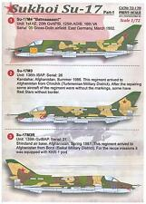 Print Scale Decals 1/72 SUKHOI Su-17 FITTER Soviet Jet Fighter Part 1