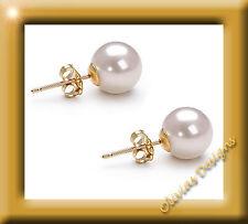 Echte Weiß Akoya Perlen ca 7mm Ohrstecker Ohrringe Gold 750 Neu 18 kt