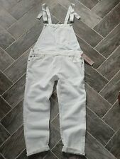 AWESOME! Women's White Denim Overalls Jeans LEVI'S Large $98 NWT!