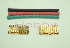 2mm Banana plug bullet connector with Heat Shrink Tube Trex 150 250 Motor Plug