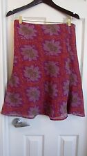 Free People Purple Orange Floral Skirt Size Small
