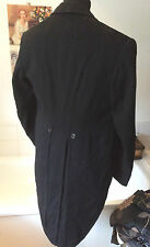 vintage 1950's tailored  black tail coat/ jacket large pointy collar 40-41""