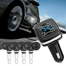 TPMS Wireless Tyre Tire Pressure + Temp Monitor System Kit 4 Internal Sensors