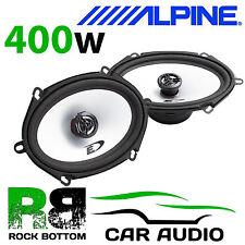 """ALPINE SXE-5725S 5x7"""" 13 x 18cm 2 way 400 Watts Car & Van Audio Coaxial Speakers"""
