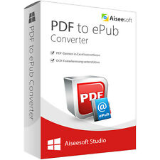 PDF to ePub Converter Aiseesoft-lebenslange Lizenz Download 31,- statt 45,- EUR