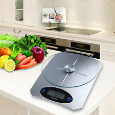 5Kg/11lbs x 1g/0.1oz Digital Kitchen Scale Glass Top Food Diet Scale Home XY