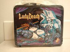 2000 Dynamic Forces Palisades Chaos Comics Lady Death Metal Lunch Box
