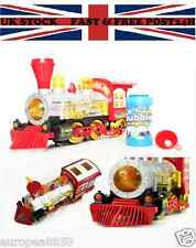 Electric Bump&Go Bubble Blowing Train Engine Machine Blower Loco Kids Party Toy