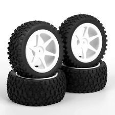 4X 12mm Hex Rubber Front&Rear Tires+Wheel Rim For RC 1:10 Off-Road Buggy C01