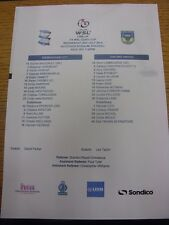 02/07/2014 COLORI teamsheet: Birmingham City Donna V Oxford United Donna [WSL