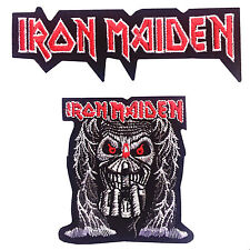Iron Maiden Rock Band Heavy Metal Logo Jacket Embroidered Iron On Patch