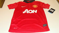 Manchester United 2013-14 Soccer Home Jersey SS S Premier League Youth Boys