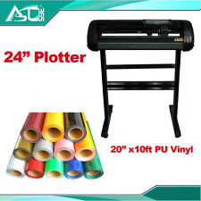 """24"""" Cutting Plotter with Craftedge Software &10ft  T-shirt Heat Transfer Vinyl"""