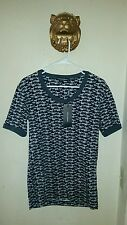$425.00 Black and Gray Dogs Print t-Shirt  DOLCE & GABBANA Men's 46 Size Small