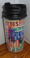 BEATLES TRAVEL MUG 11.5 oz. ROCK-N-ROLL. SCREW ON TOP. TUMBLER MUG.