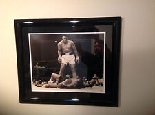 Muhammad Ali over Liston Autographed Signed Framed 16x20 Online Authentics