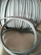2 Meters Faux Leather Grey 8mm Insertion Cord Upholstery Flanged Rope Piping