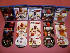 5x ps2 _ ESPN NBA Basketball & NBA Live 2004 & NBA 2k7 & NBA Live 08 & NBA 2k10