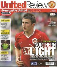 Football Programme - Manchester United v Newcastle United  Premiership - 1/10/06