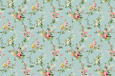 Victorian Floral Vines on French Blue, Charlotte, Northcott (By 1/2 yard)