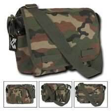 Camo Army Military Messenger Heavyweight Field Canvas Shoulder Laptop Bag Bags