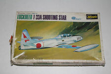 HASEGAWA LOCKHEED T-33A SHOOTING STAR JAPANESE MILITARY, 1:72 SCALE, SEALED