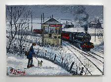 "Northern artista James Downie pintura al óleo originales ""Buxton Tren Ferrocarril"""