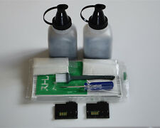 2 x Toner Refill + Chip For Fuji Xero Phaser 6010 6000 Workcentre 6015 106R01630