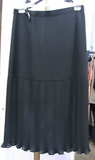 Joseph Ribkoff UK 16 BNWT Gorgeous Black Below Knee Skirt Lower 1/2 Tight Pleats