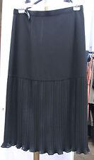 Joseph Ribkoff UK 16 BNWT Gorgeous Black Below Knee Skirt Lower 1/2 Tight Pleats