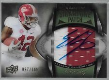 2013 UD Quantum Eddie Lacy On Card Auto 2 Color Patch Rc # 27/265 Jersey # A 1/1