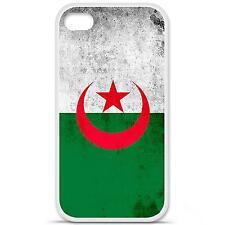 Coque housse étui tpu gel motif drapeau Algérie Iphone 4 / 4S