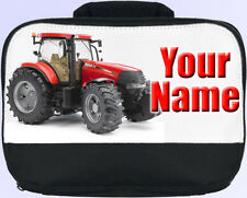 RED TRACTOR PERSONALISED LUNCH BOX / BAG FOR WORK / SCHOOL /NURSERY *NAMED GIFT*
