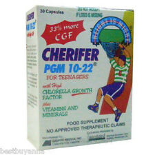 Cherifer PGM 10-22 Teen Growth Supplement 30 Caps Free Shipping Boys or Girls