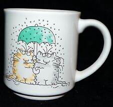 Vintage Sandra Boynton Someday Rich and Famous Kitty Cats Friends Coffee Mug Cup