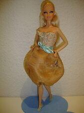 Kleid / Dress in Gold und Bronze für Barbie Basics Model Muse,Fashionistas
